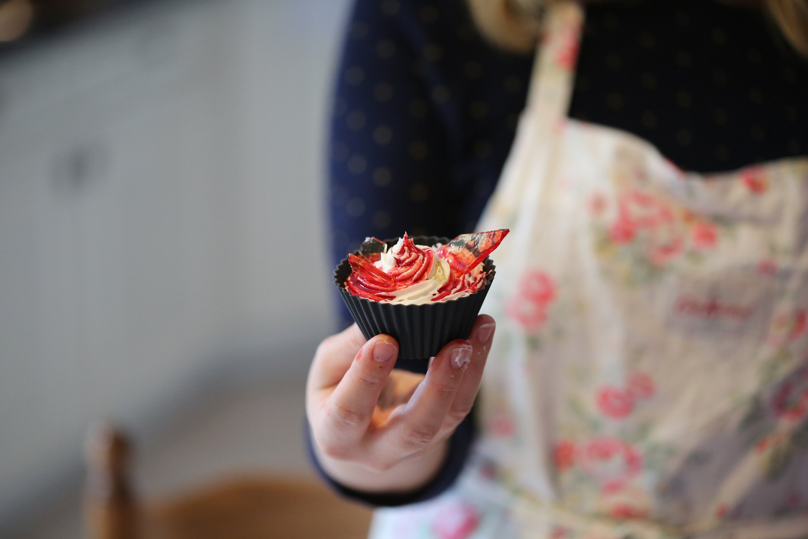 La Fabrique - Cupcakes ensanglantés verre en sucre 10