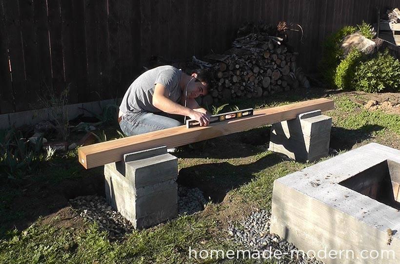 Un banc pour votre jardin la fabrique diy - Banc de jardin en ciment ...