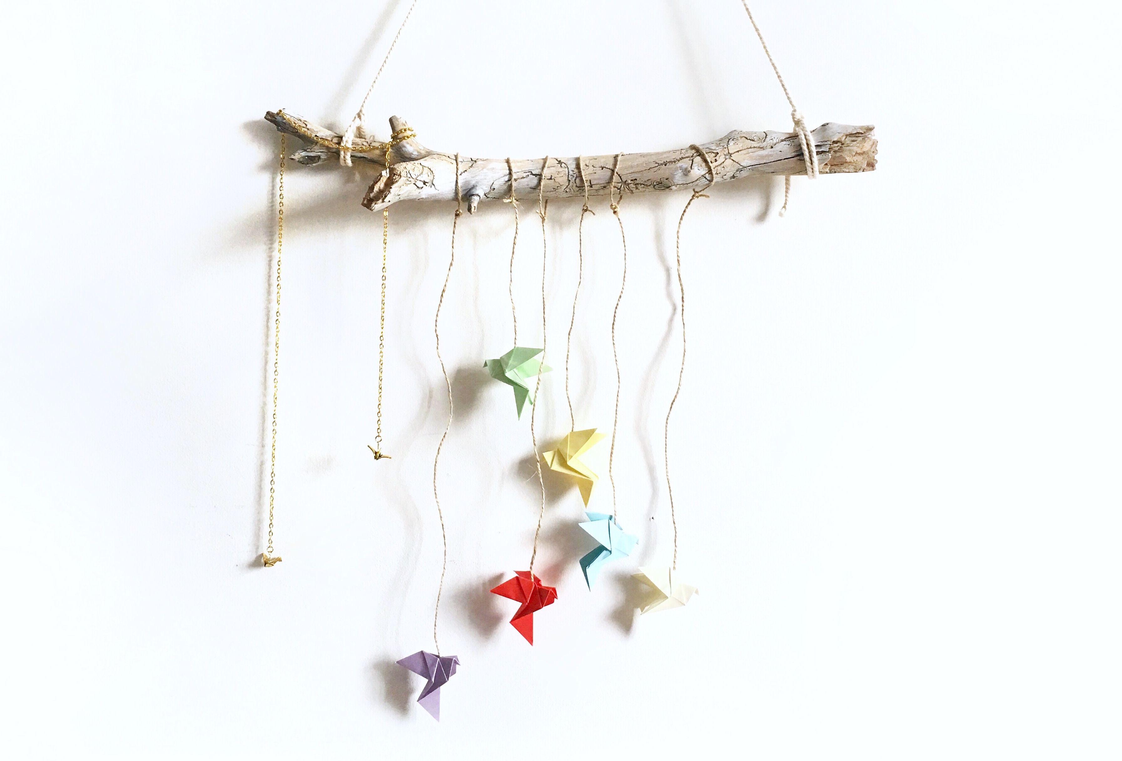 """Origami """"oiseau"""" pour déco murale"""