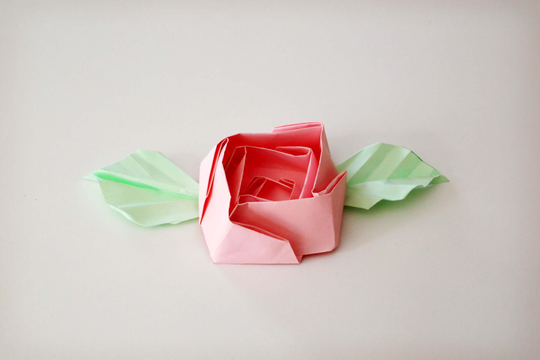 Rose en origami